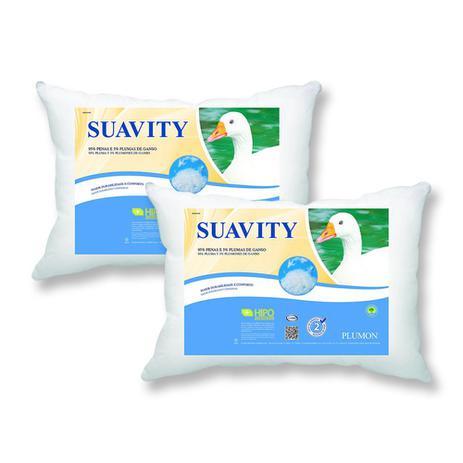 Imagem de Kit 2 Travesseiros Plumon Suavity - Penas e Plumas de Ganso