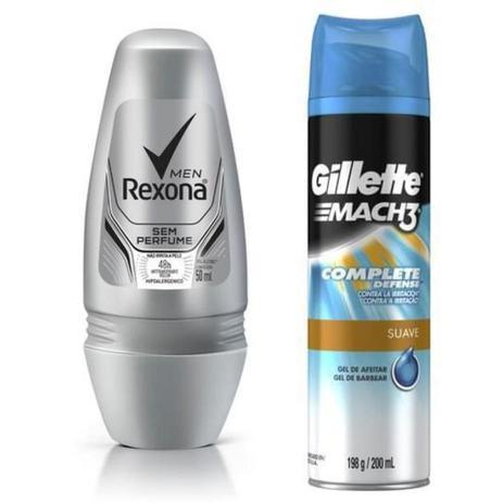 Imagem de Kit 2 Un desodorante e Gel de barbear Rexona/Gillette