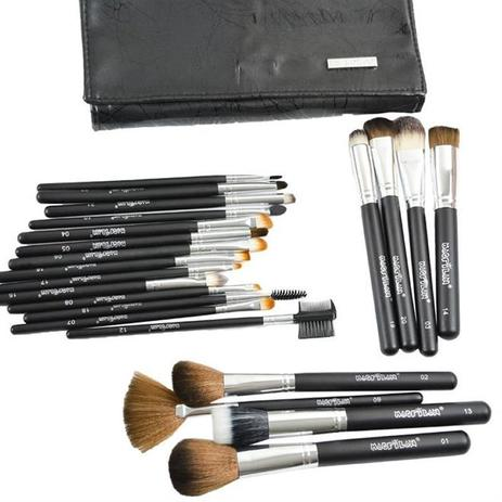 Imagem de Kit 22 Pinceis De Maquiagem Profissional Original Macrilan
