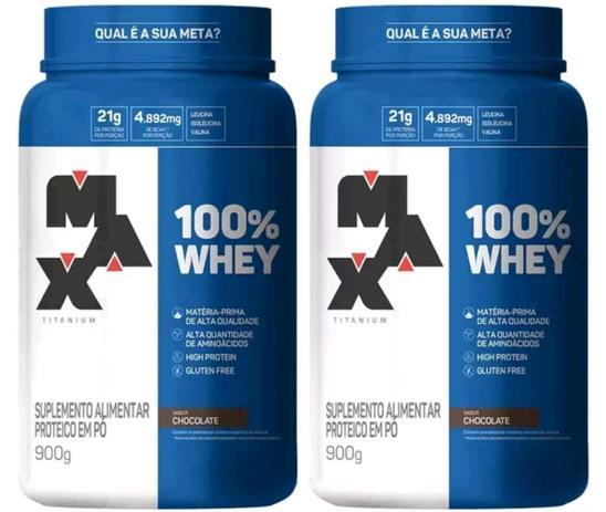 Imagem de Kit 2x 100% Pure whey Protein Concentrado 900g - Max Titanium