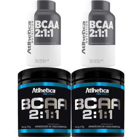 db1e048c2 Kit 2x Bcaa 2 1 1 Pro Series 280g + 60 Capsulas - Atlhetica - Atlhetica  nutrition