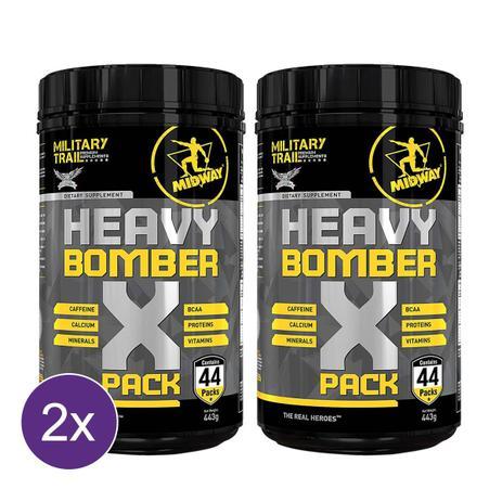 Imagem de Kit 2x Heavy Bomber Military Trail Pack - Pré Treino com cafeína, aminoácidos, vitaminas e minerais