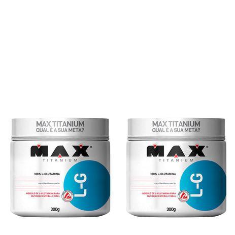 Imagem de Kit 2x L-G Glutamina 300g Max Titanium