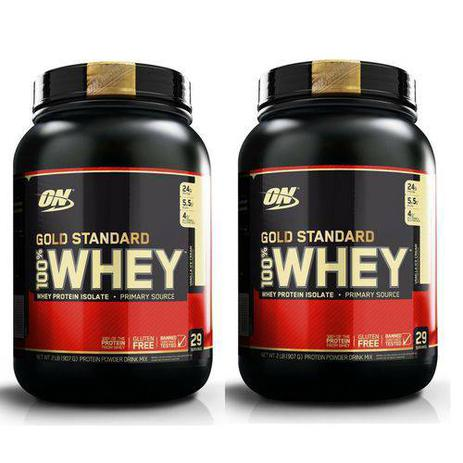 335f5b4f6 Kit 2X Whey Gold Standard 907GR (1.8KG) - Optimum Nutrition Sabor  Baunilha