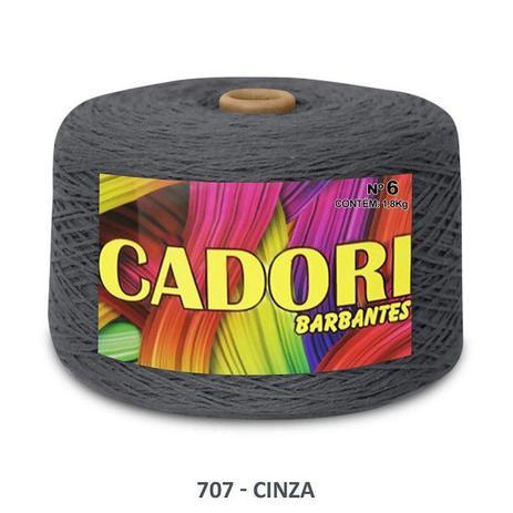 Imagem de kit 3 Barbante Cadori N06 - 1,8KG Cinza