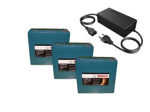 Imagem de Kit 3 Bateria 12v 24ah e Carregador 36v Bike Elétrica