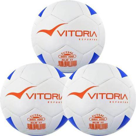 509cdf3de6 Kit 3 Bolas Futsal Vitoria Brx Max 100 Sub 11 (9 A 11 Anos) - Vitoria  esportes