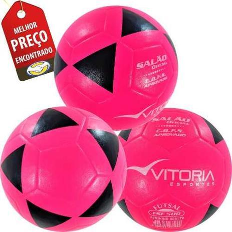 052514f3ad kit 3 Bolas Futsal Vitória Oficial Feminina Fsf 500 - Vitoria esportes