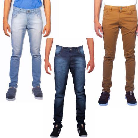 e2fc4664e Kit 3 calças jeans masculina skinny sandro clothing 001 jeans - Sandro  moscoloni
