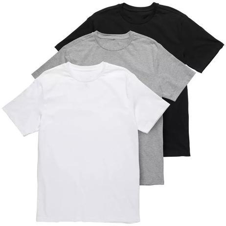 94be613b39 Kit 3 Camiseta Lisa 100 Algodão Básica Premium Fio 30.1 - Newbeat ...