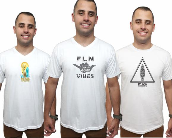 Kit 3 Camisetas Brancas Masculina Promoção Camisas Qualidade - Da ilha  floripa 68467709e4881