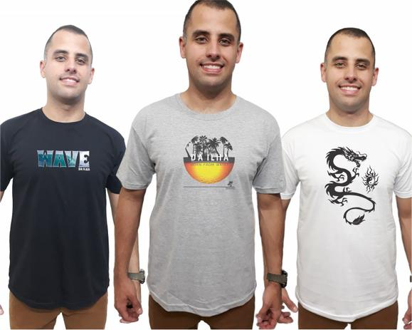 a9f7d6de50 Kit 3 Camisetas Masculinas Combo Promoção Camisas Qualidade - Da ilha  floripa
