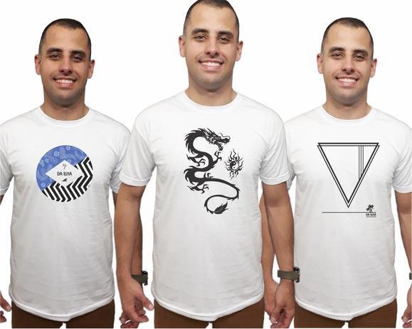 7b27c1d998 Kit 3 Camisetas Masculinas Promoção Combo Camisas Qualidade - Da ilha  floripa
