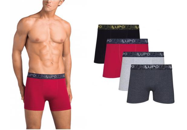 Imagem de Kit 3 Cuecas Boxer Box Lupo Algodão Cotton Masculino Oferta