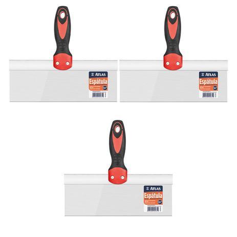 Imagem de Kit 3 Espatula Drywall P/Aplicação De Massa Em Paredes 10