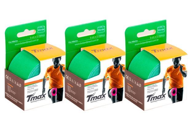 Kit 3 Fitas de Kinésio Bandagem Adesiva Tmax - Verde - Bioland ... cfdfc8a8daf83