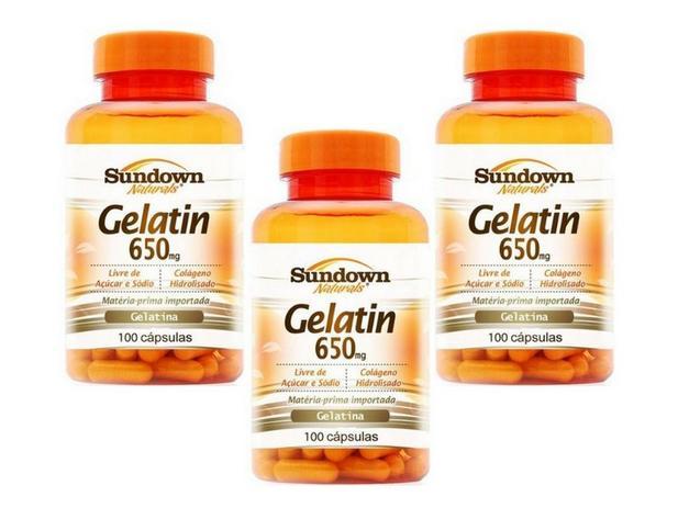 3c4b22359 Kit - 3 Gelatin Sundown Colágeno 100 Cápsulas - - - Magazine Luiza