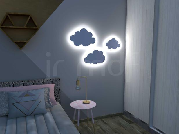 Imagem de Kit 3 Luminárias Nuvem PMG Branco Frio