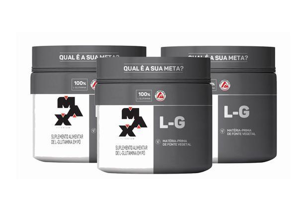 Imagem de kit 3x L Glutamina 150g Max Titanium