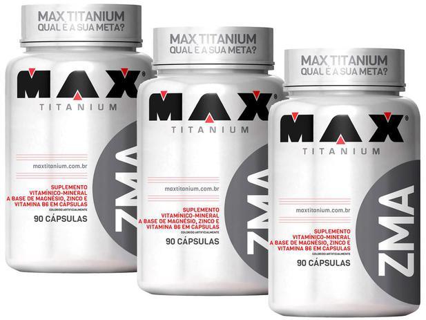 Imagem de Kit 3x Zma 90 Cápsulas - Max Titanium