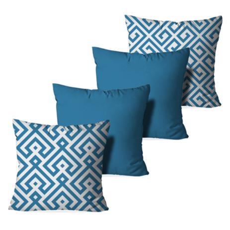 33c4ed4bb Kit 4 Almofadas Decorativa Blue Abstrato - Love decor - Almofada ...
