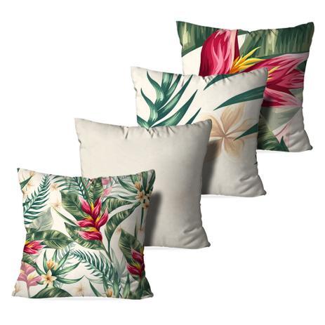 c8f379f0c Kit 4 Almofadas Decorativa Floral tropical - Love decor - Almofada ...