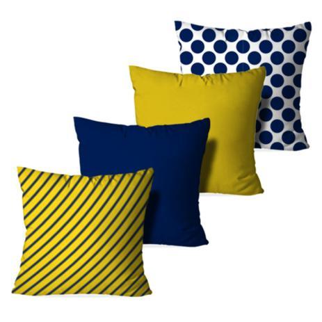 760e99488 Kit 4 Almofadas Decorativa Poo and Stripes - Love decor - Almofada ...