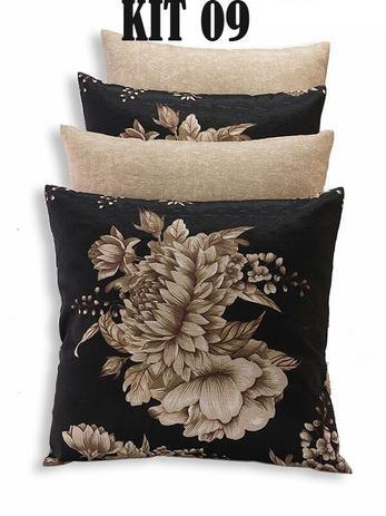 8f531c8ca82d0d Kit 4 Almofadas Decorativas Cheias Sala e Sofá Moderna - Mi amore