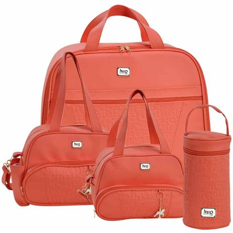 68a1ec1124 Kit 4 Bolsas Maternidade Pierrot Coral - Hug - Hug bolsas - Kit ...