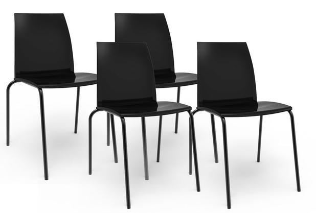 Menor preço em Kit 4 cadeiras Loft preto - Im in