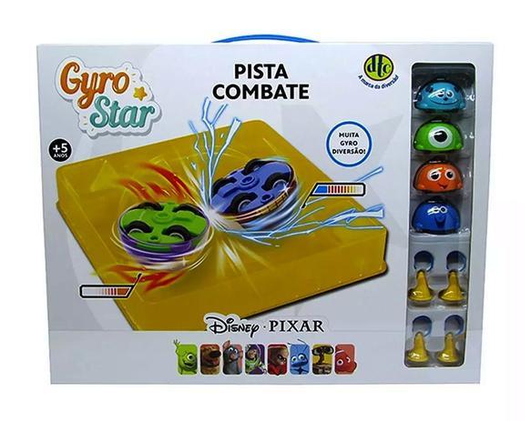 Imagem de Kit 4 Gyro Star Pista de Combate Arena Disney Pixar - DTC