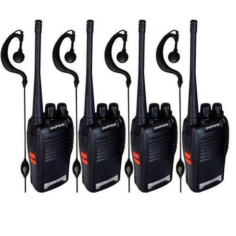 Imagem de Kit 4 Radios Comunicador Baofeng 777s Uhf Walk Talk+ 4 Fones
