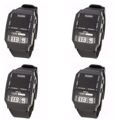 7a9e7f78678 Kit 4 Relógios Fala Hora Ideal Para Def Visual e Idosos - Inn ...