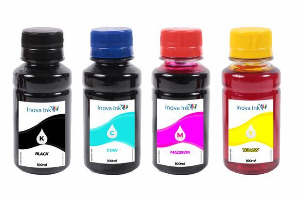 Imagem de Kit 4 tintas para cartucho HP 60 CMYK 100ml