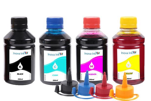 Imagem de Kit 4 Tintas Para Epson Ecotank L396 250ml Inova Ink