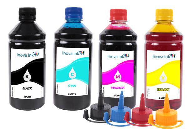 Imagem de Kit 4 Tintas Para Epson Ecotank L396 500ml Inova Ink