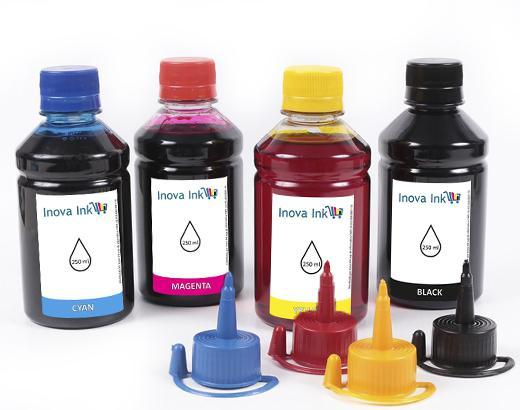 Imagem de Kit 4 Tintas para Espson EcoTank L495 CMYK 250ml
