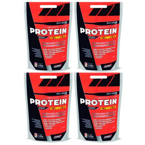f2473835b Kit 4 Un Protein Complex 1.800G Morango New Millen - Blend de ...