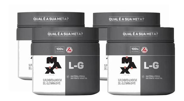 Imagem de Kit 4x L Glutamina 300g (1200 kg) Max Titanium