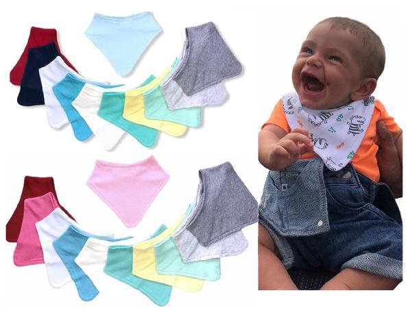 Imagem de Kit 5 Babador Bandana Bebê Infantil 100% Algodão.