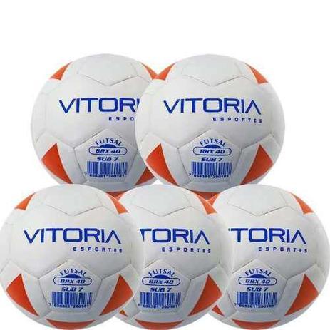 ae77687148345 Kit 5 Bolas Futsal Vitoria Brx Max 40 Sub 7 (3 6 Anos) Baby - Vitoria  esportes