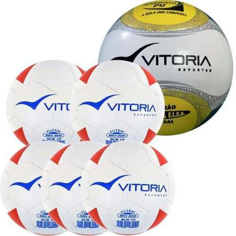 9d9c3bd435bb2 Kit 5 Bolas Sub 13 Max 200 + 1 Bola Futsal Oficial 500 - Vitoria esportes