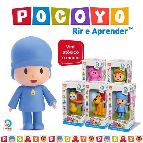 Imagem de Kit 5 Bonecos Vinil Pocoyo + Elly + Loula + Pato + Nina - Cardoso Brinquedos