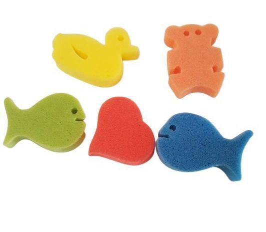 Imagem de Kit 5 Esponja Banho Infantil Bucha Macia De Banho Coloridas