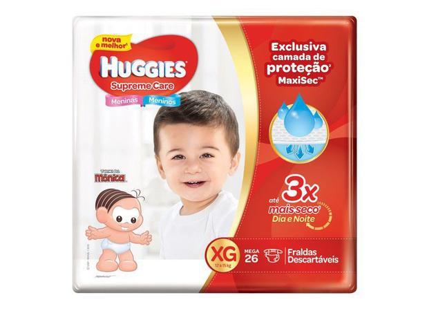 Imagem de Kit 5 Fralda Descartável Infantil Mônica Supreme Care XG 26 unidades