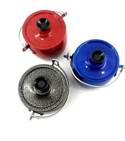 Imagem de Kit 5 Minis Enfeites Decorativos De Caldeirões Coloridos