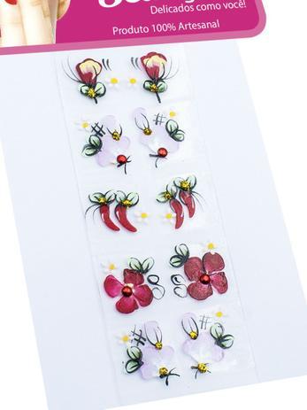 Imagem de Kit 50 Adesivos para Unhas Arte Sedução, 100% Artesanal