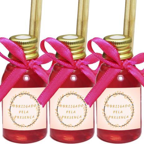 Imagem de Kit 50 Aromatizador Lembrancinha Festa de 15 Anos Floral Fita Pink 30ml
