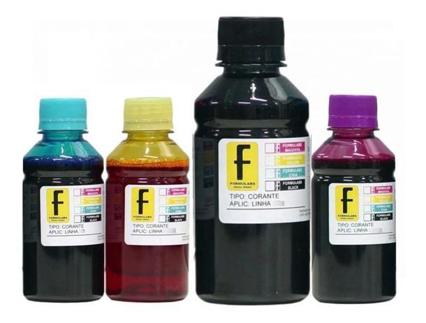 Imagem de Kit 500ml  tintas para recarga de Cartuchos e Bulk Ink Impressoras de 2 Cartuchos