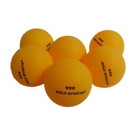 8f3718e1c Kit 6 Bolas Para Tênis de Mesa 3 Star - Gold Sports - Bola de Tênis ...